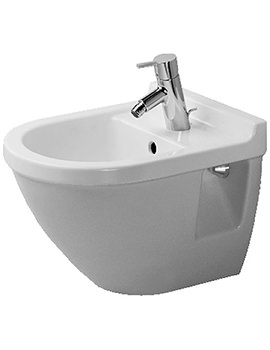 Starck 3 Compact Wall Mounted Bidet with Overflow - 223115