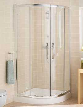 Classic Silver Quadrant Plus Shower Enclosure 800 x 1850mm