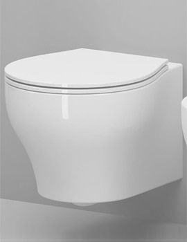 Vera Gloss White Wall Hung WC Pan 500mm Projection