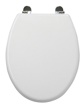 Essence High Gloss Moulded MDF Toilet Seat -8400WH