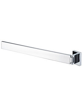 Haceka Edge 392mm Adjustable Towel Rail Chrome - 1143809