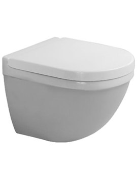 Starck 3 Wall Hung 360mm Toilet With Durafix - 2227090000