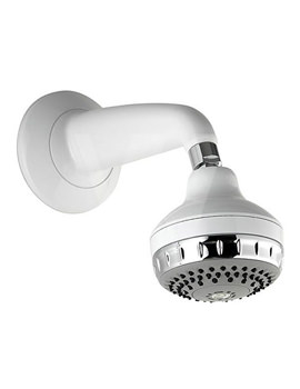 Aqualisa Varispray Concealed Fixed Shower Head White - Chrome