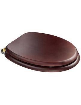 Croydex Douglas Mahogany Effect Brass Hinges Toilet Seat - WL530752H