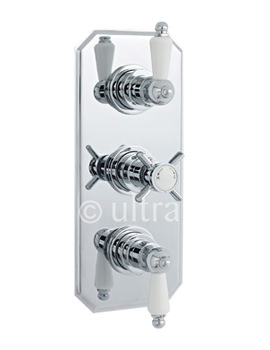 Ultra Beaumont Triple Concealed Traditional Thermostatic Shower Valve