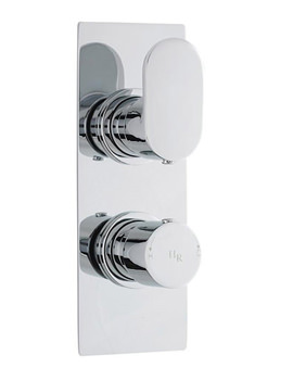 Related Hudson Reed Reign Twin Concealed Thermostatic Valve With Diverter - REI3207