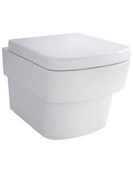 Bloque Wall Hung WC Bowl And Soft Close Seat 500mm