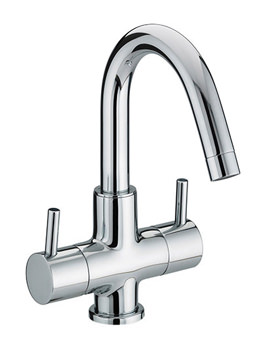 Bristan Prism 2 Handle Basin Mixer Tap With Swivel Spout - PM BAS2 C