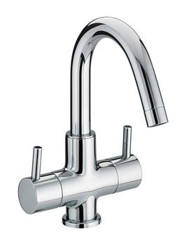 Prism 2 Handle Basin Mixer Tap With Swivel Spout - PM BAS2 C