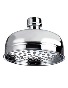 Traditional 145mm Round Fixed Shower Head Chrome