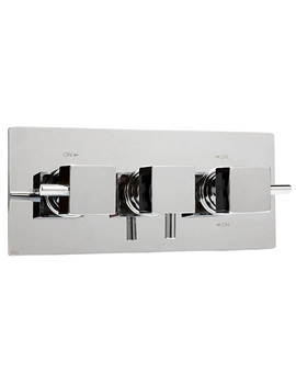 Thermosure DTV3 Cube Horizontal Plate Concealed Shower Valve