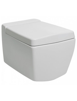 Bauhaus Linea Wall Hung WC Pan 540mm With Soft Close Toilet Seat