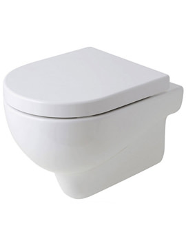 Nuvola Wall Hung WC Pan Gloss White 550mm Projection