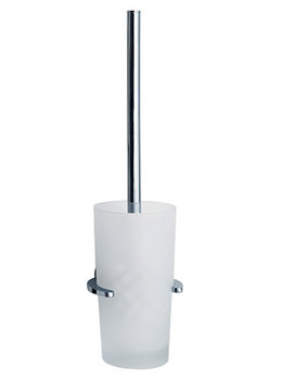 Loft Wall Mounted Toilet Brush With Glass Container