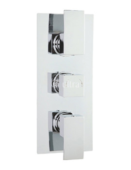 Related Ultra Vibe Triple Concealed Thermostatic Shower Valve - VIBV53