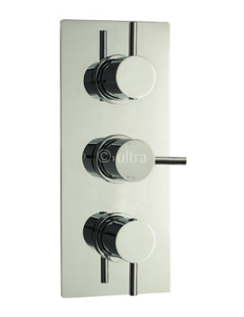 Quest Triple Concealed Thermostatic Shower Valve - QUEV53