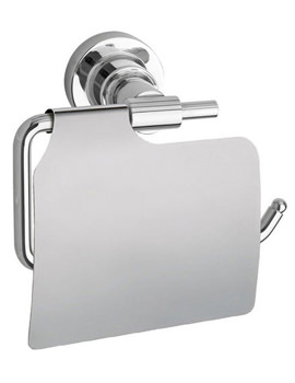 Red Dot Luup Toilet Roll Holder With Cover Chrome