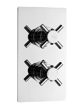 Related Hudson Reed Kristal Twin Concealed Thermostatic Shower Valve - KRI3207