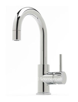 Tre Mercati Milan Side Lever Mono Basin Mixer Tap With Pop Up Waste