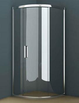 Oxygen 8 Single Sliding Door Quadrant Shower Enclosure 900mm