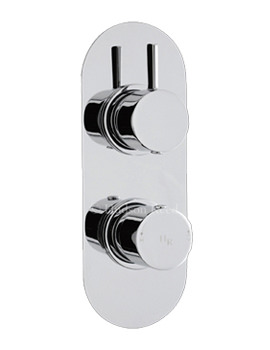 Related Hudson Reed Clio Twin Concealed Thermostatic Valve With Diverter - A3425