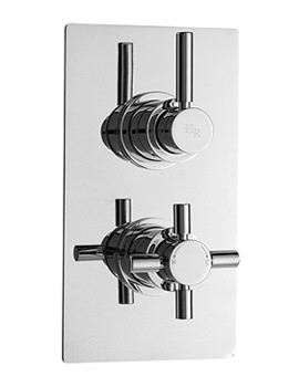 Hudson Reed Tec Pura Twin Concealed Thermostatic Shower Valve - A3007