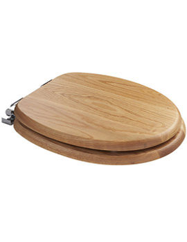 Bloomfield Traditional Oak Soft Close Toilet Seat - WL531176H
