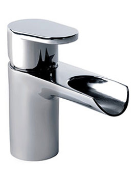 Stream Open Spout Basin Mixer Tap With Click Waste