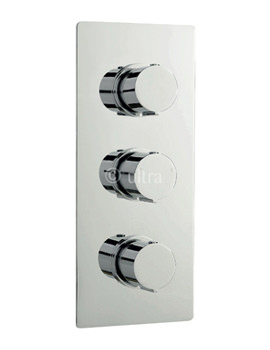 Related Ultra Ecco Triple Concealed Rectangular Thermostatic Shower Valve