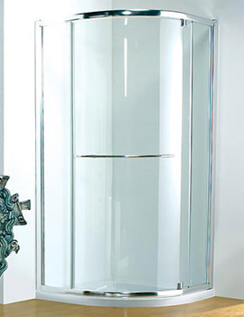 Original 900mm White Pivot Shower Door With Tray And Waste