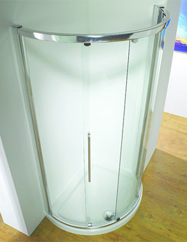 Original 1000 x 810mm LH White Slider Door Side Access