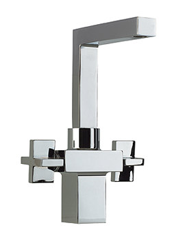 OV Series Basin Mono Mixer Tap With Swivel Spout And Klik Waste