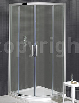 Elite Framed Double Door Quadrant Enclosure 800 x 800mm