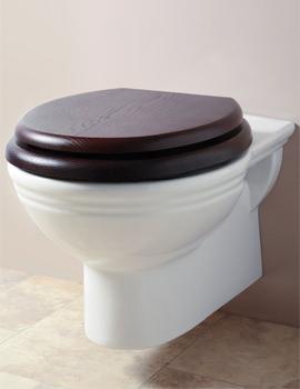 Victorian White Wall Mounted WC Pan - BEPANWM6WHI