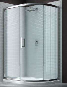 Related Merlyn 6 Series Single Sliding Door Offset Quadrant Enclosure 900 x 760mm