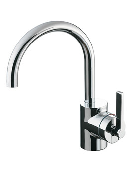 Silver Single Lever Basin Mixer Tap With Pop-Up Waste