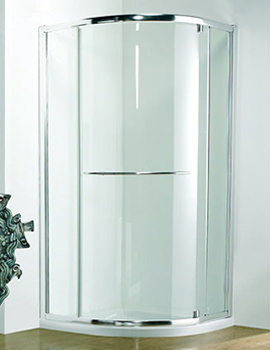 Original 900mm Silver Pivot Shower Door With Tray And Waste