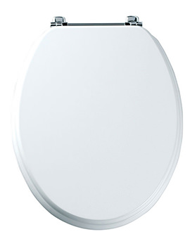 Premier Toilet Seat With Chrome Hinges