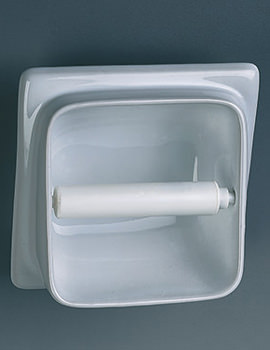 Built-In Semi Recessed Toilet Roll Holder - VC9806WH