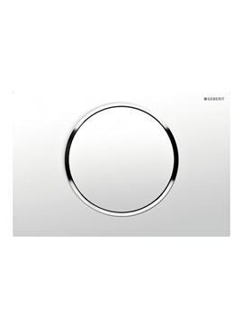 Geberit Sigma10 Mains Operated Dual Flush Plate - White- Chrome