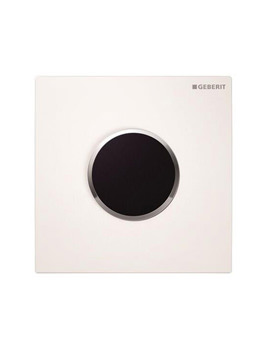 Geberit Hytouch Sigma10 Mains Supply Urinal Flush Control-White-Gold