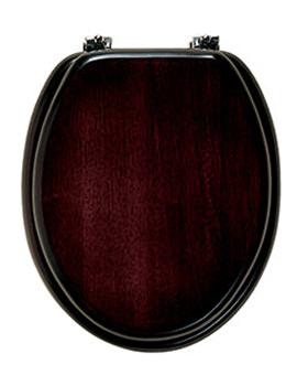Malvern Solid Wood Toilet Seat Mahogany Finish - MTS1MC