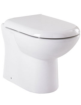 Related Lauren White Minimalist D-Shape Back To Wall Toilet Pan - VTY033