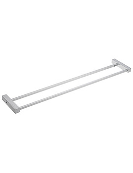 Turn Me On 60cm Double Towel Rail - 66275