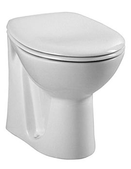Layton Back-To-Wall WC Pan With Toilet Seat - 6875L003-0075