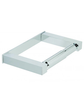 Square Covered Toilet Paper Holder Chorme