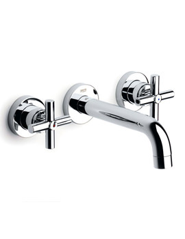 Loft Wall Mounted 3 Hole Basin Mixer Tap - 5A4743C00