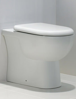 Tonique Back To Wall WC Pan With Soft Close Toilet Seat 550mm
