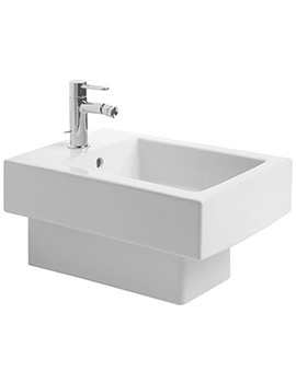 Vero White 370 x 540mm 1 Tap Hole Wall Mounted Bidet - 2239150000