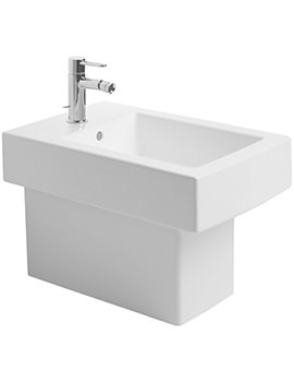 Vero White 370 x 570mm Tap Hole Floor Standing Bidet - 2240100000